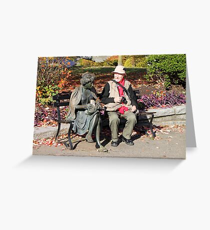 Enjoying a Chat in the Park, Vancouver, Canada  Greeting Card