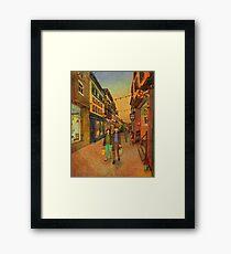 Holding hands and walking together Framed Print