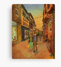 Holding hands and walking together Canvas Print