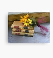 Vintage Law Books Canvas Print