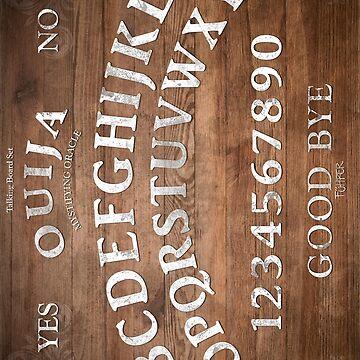 Mystifying Oracle White (ouija board) by FuhrerDoodles