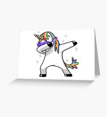Dabbing Unicorn Greeting Card