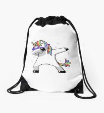 Dabbing Unicorn Drawstring Bag