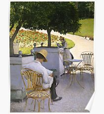 The Orange Trees 1878 Gustave Caillebotte Poster