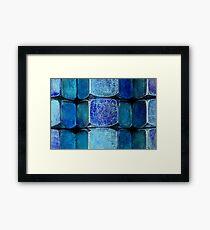 Metal Macro #2 Blue Framed Print