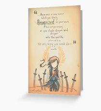 The Journey by Mary Oliver - [A Scribble] Greeting Card