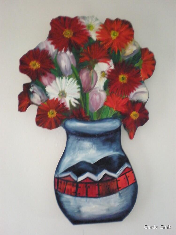 red flowers by Gerda  Smit