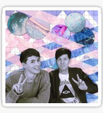 Dan and Phil Tumblr Aesthetic Sticker