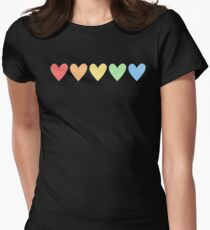 GAY PRIDE RAINBOW HEART T-Shirt