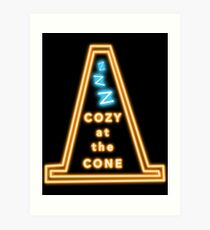 Cozy At The Cone Art Print