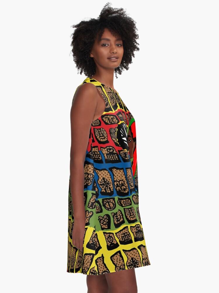 Alternate view of I Am Wakanda A-Line Dress