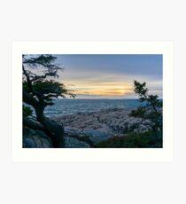 Sunset Acadia National Park  Art Print