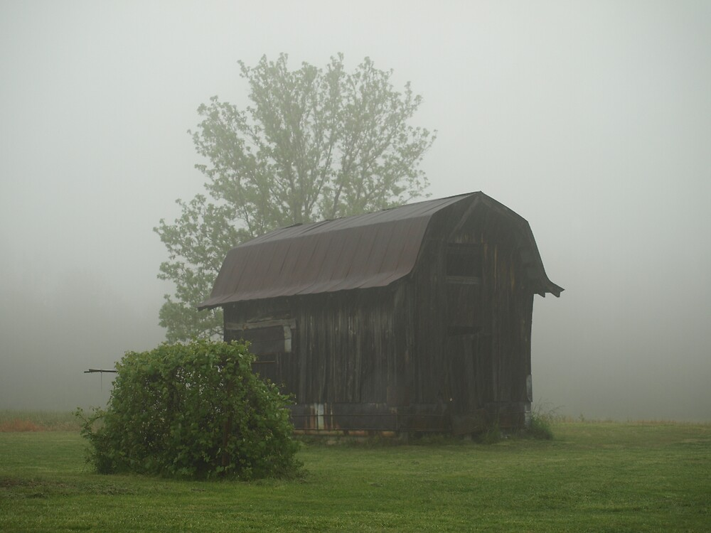 Misty Morning on the Farm by Linda Mathews