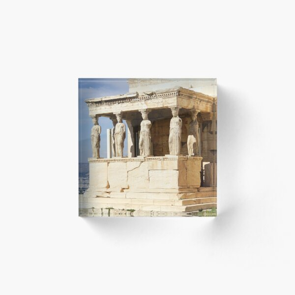 Erechtheion, Acropolis, Athens, Greece, UNESCO word heritage site Acrylic Block