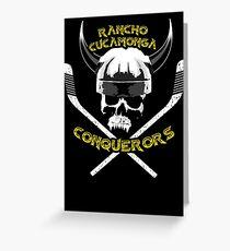 Rancho Cucamonga Conquerors Greeting Card