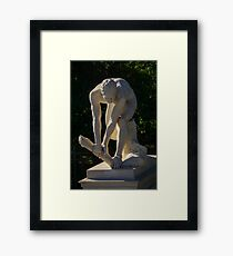 the wood breaker marble statue Athens National Garden, Greece  Framed Print