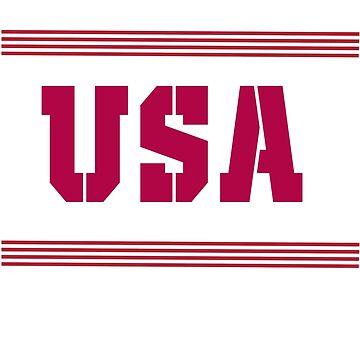 USA -  flag patriotic gift for men, women, boys and girls by teesogram