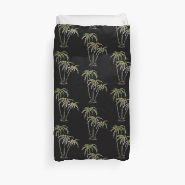 Rainbow Palm Trees Duvet Cover