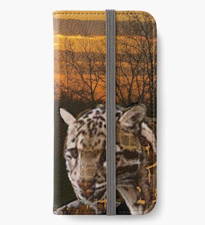 Fire Leopard iPhone Wallet