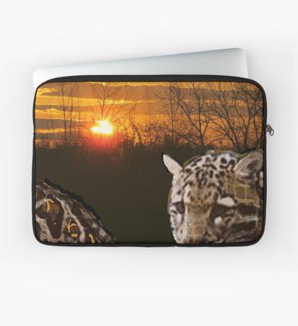 Fire Leopard Laptop Sleeve