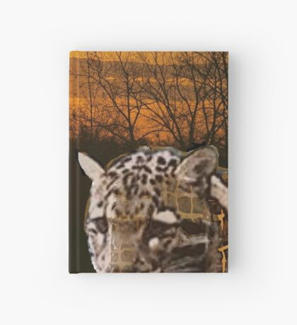 Fire Leopard Hardcover Journal
