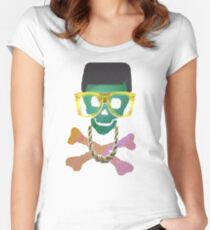 Retro Skull with Hightop Women's Fitted Scoop T-Shirt