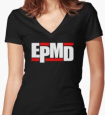 New EPMD Rap Hip Hop Music Classic Logo Women's Fitted V-Neck T-Shirt