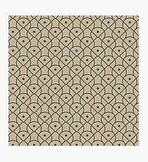 Brown Graphic Pattern Photographic Print