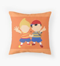 Ness & Lucas (Orange) - Super Smash Bros. Throw Pillow