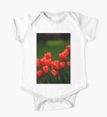 Blooming red tulip flowers close up Kids Clothes