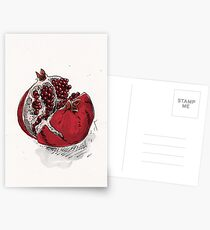 pomegranate drawing Postcards