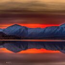 Red Sunset in Twizel by Linda Cutche