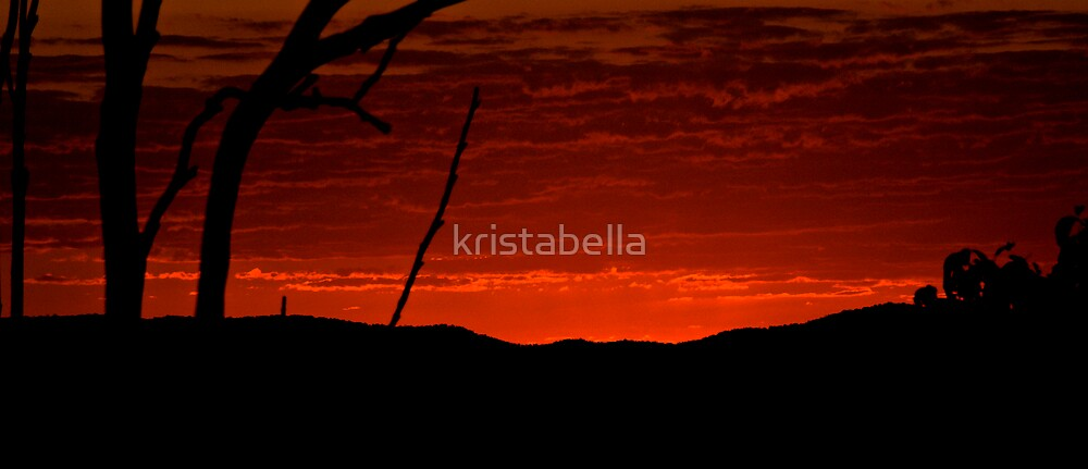 Burning Sunset by kristabella