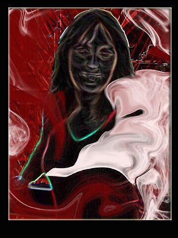 In red (self portrait) by jaycee