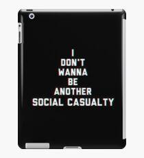 Social Casuality iPad Case/Skin