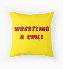 wrestling and chill Throw Pillow