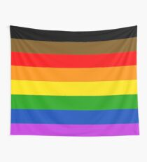Philadelphia pride flag Wall Tapestry
