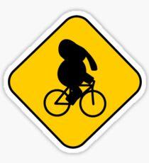 Beware of bike riding elephants Sticker