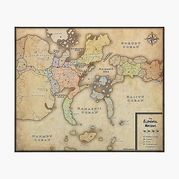 Naruto Map Photographic Print