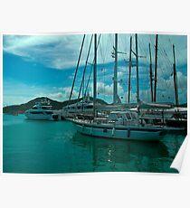 Antiguan Harbour Life Poster