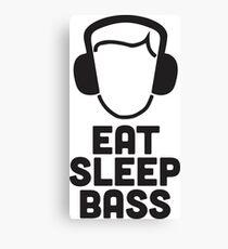 Eat Sleep Bass - When bass is life! Canvas Print