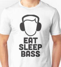 Camiseta ajustada Eat Sleep Bass - ¡Cuando el bajo es vida!