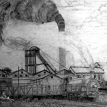 My pencil drawing of An Old Colliery in Yorkshire 1920s (includes video) by ZipaC
