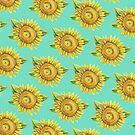 Sunflowers Mint by Meaghan Roberts