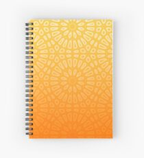 Yellow Geometric Pattern Spiral Notebook
