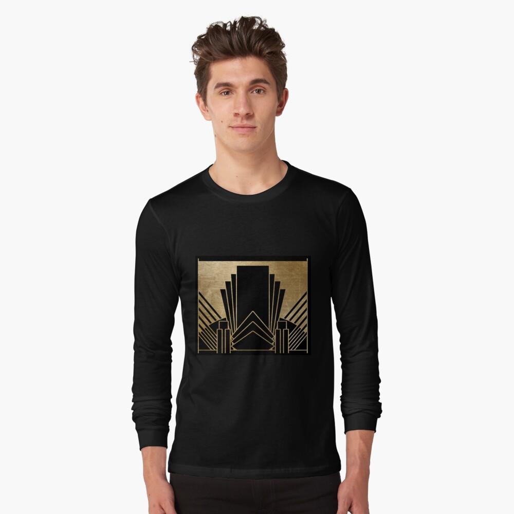 Art-Deco-Design Langarmshirt
