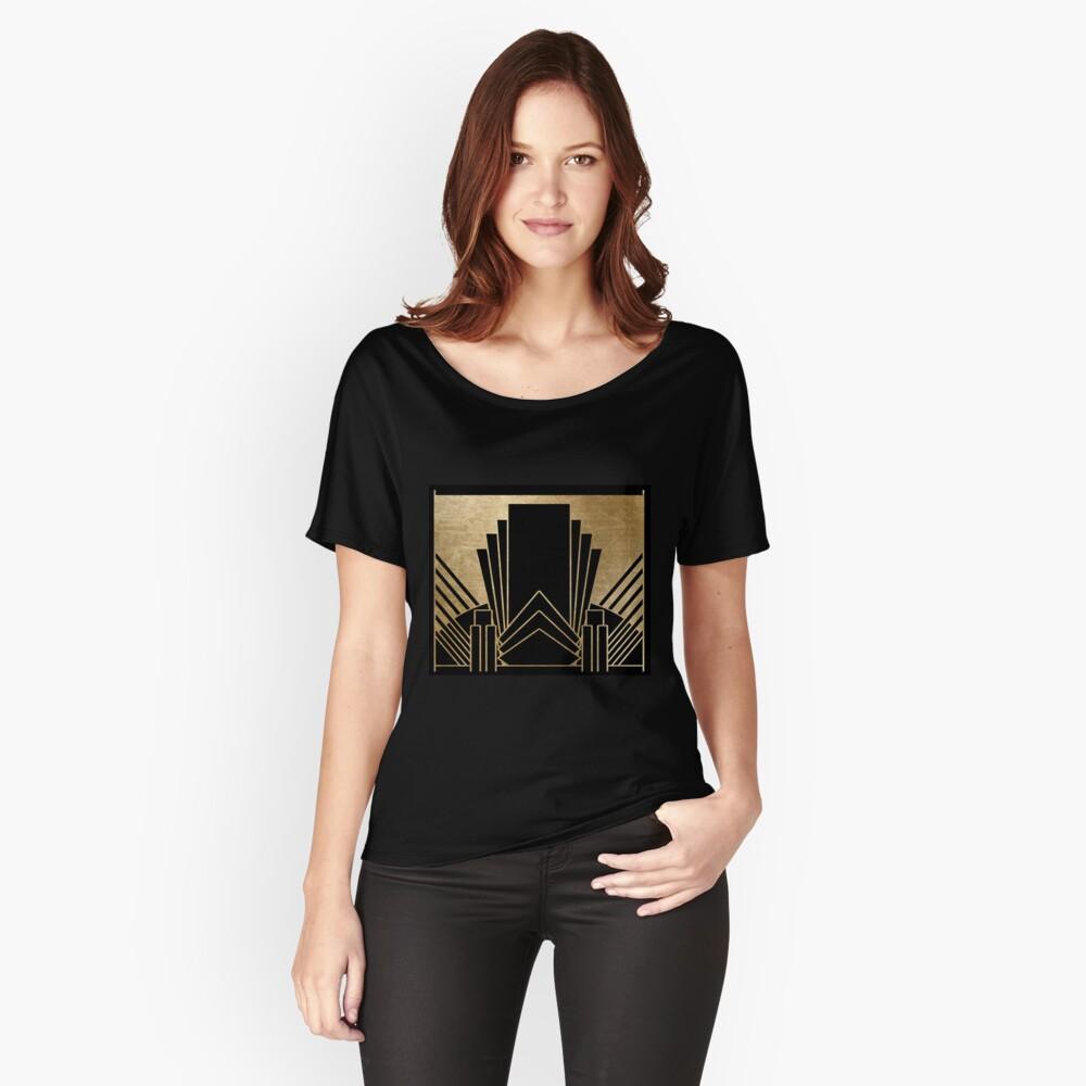 Art-Deco-Design Loose Fit T-Shirt