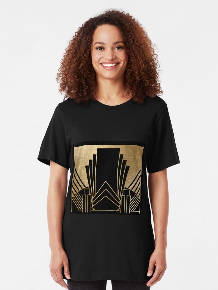 Alternative Ansicht von Art-Deco-Design Slim Fit T-Shirt