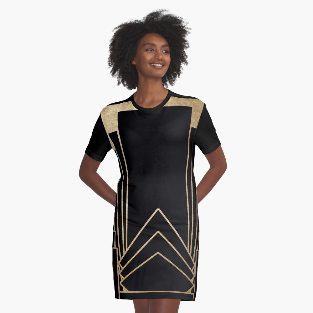 Art-Deco-Design T-Shirt Kleid