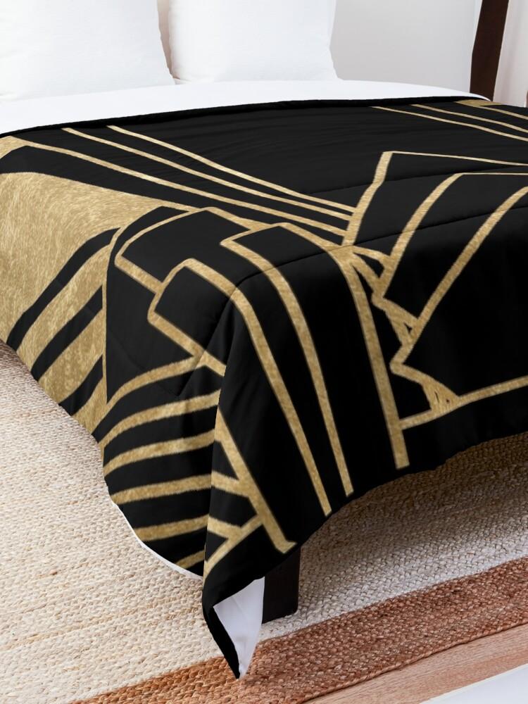 Alternate view of Art deco design Comforter